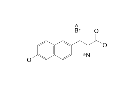 (+/-)-2-AMINO-3-(6-HYDROXY-2-NAPHTHYL)-PROPANOIC-ACID-HYDROBROMIDE