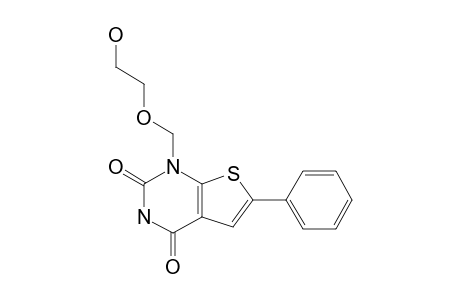1-[(2-HYDROXY-ETHOXY)-METHYL]-6-PHENYL-THIENO-[2,3-D]-PYRIMIDINE-2,4-DIONE