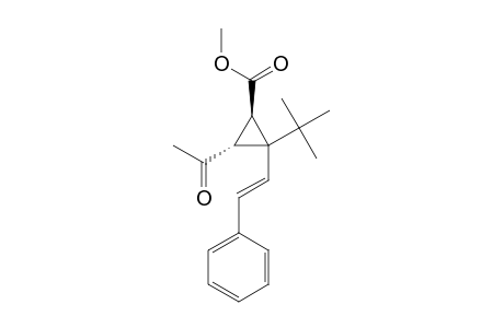 METHYL-T-3-ACETYL-2-tert-BUTYL-2-STYRYL-CYCLOPROPANE-R-1-CARBOXYLATE