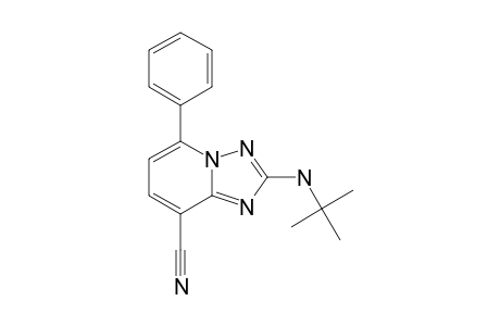 2-tert-Butylamino-5-phenyl[1,2,4]triazolo[1,5-a]pyridine-8-carbonitrile