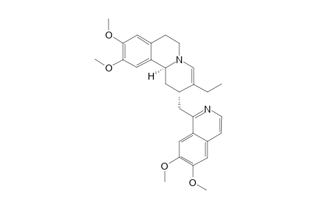 (2S,11BS/2R,11BR)-2-(6,7-DIMETHOXYISOQUINOLIN-1-YL-METHYL)-3-ETHYL-9,10-DIMETHOXY-1,6,7,11B-TETRAHYDRO-2H-BENZOQUINOLIZINE
