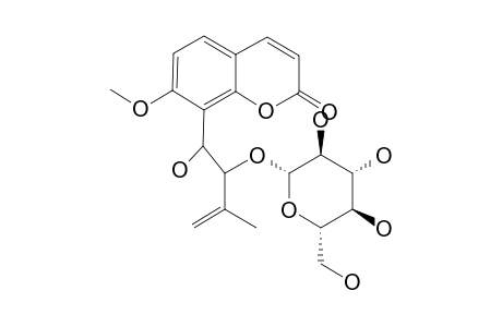 7-METHOXY-8-(1-HYDROXY-2-O-BETA-GLUCOPYRANOSYL-3-METHYL-4-BUTENE-1-YL)-COUMARIN
