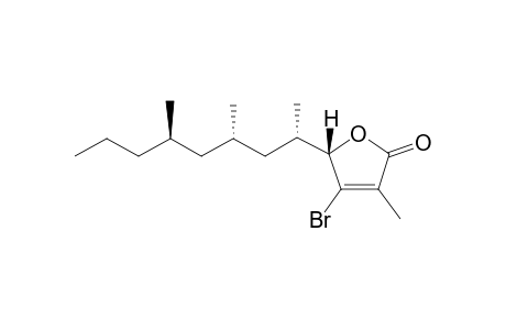 (5S)-4-BROMO-3-METHYL-5-[(1'S,3'S,5'S)-1,3,5-TRIMETHYLOCTYL]-5H-FURAN-2-ONE