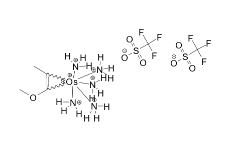 [OS(NH3)5(TRANS-(2-ETA)-1-METHOXYPROPENE)](OTF)2