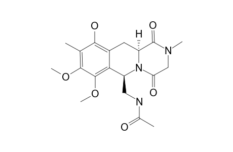 #26B;N-[[(6R*,11AS*)-10-HYDROXY-7,8-DIMETHOXY-2,9-DIMETHYL-1,4-DIOXO-2,3,4,6,11,11A-HEXAHYDRO-1H-PYRAZINO-[1,2-B]-ISOQUINOLIN-6-YL]-METHYL]-ACETAMIDE