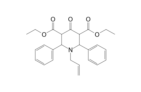 1-allyl-2,6-diphenyl-4-oxo-3,5-piperidinedicarboxylic acid, diethyl ester