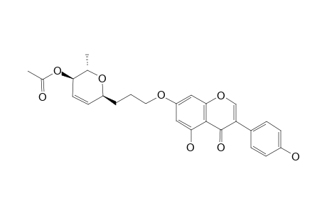 5-HYDROXY-7-O-[3-(1-C-4-O-ACETYL-2,3,6-TRIDEOXY-ALPHA-L-ERYTHRO-HEX-2-EN-PYRANOSYL)-PROPYL]-3-(4'-HYDROXYPHENYL)-CHROMEN-4-ONE