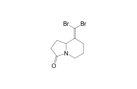 8-(DIBROMOMETHYLIDENE)-HEXAHYDROINDOLIZIN-3(2H)-ONE