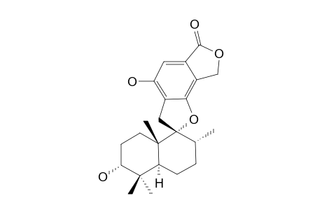 (3R,4aS,7R,8R,8aS)-3,4'-dihydroxy-4,4,7,8a-tetramethylspiro[2,3,4a,5,6,7-hexahydro-1H-naphthalene-8,2'-3,8-dihydrofuro[4,5-g][2]benzoxole]-6'-one