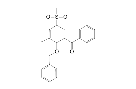 (3RS,4Z,6SR)-3-(BENZYLOXY)-4-METHYL-6-METHYLSULFONYL-1-PHENYLHEPT-4-EN-1-ONE