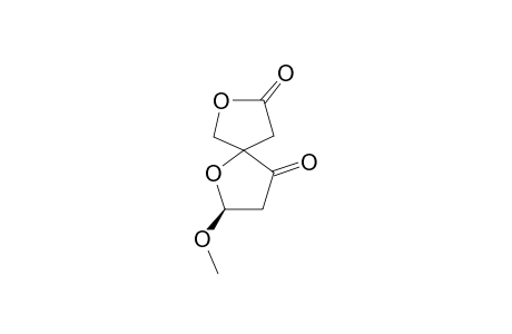 2-METHOXY-1,7-DIOXASPIRO-[4.4]-NONANE-4,8-DIONE;FIRST-STEREOISOMER