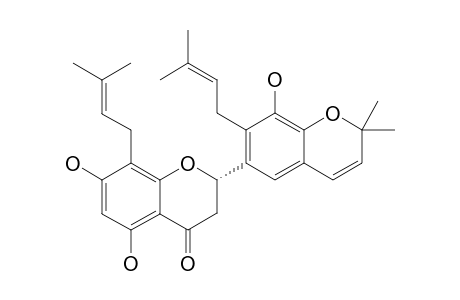 5,7,3'-TRIHYDROXY-4',5'-(2'',2''-DIMETHYLPYRAN)-8,2'-DI-(3-METHYL-2-BUTENYL)-(2S)-FLAVANONE