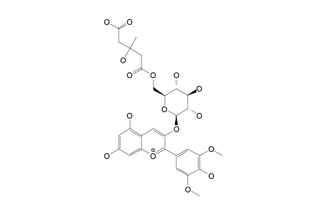 MALVIDIN-3-[6-(3-HYDROXY-3-METHYLGLUTAROYL)-GLUCOPYRANOSIDE]