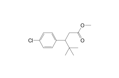 3-(4-chlorophenyl)-4,4-dimethyl-valeric acid methyl ester