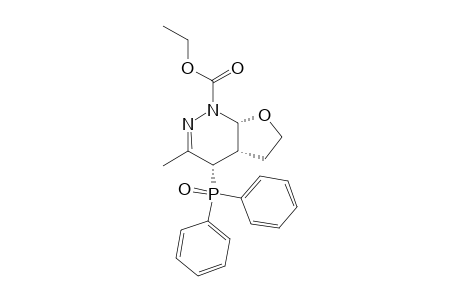 ETHYL-(+/-)-(4S*,4A-S*,7A-R*)-4-(DIPHENYLPHOSPHINOYL)-3-METHYL-4A,5,6,7A-TETRAHYDRO-4H-FURO-[2,3-C]-PYRIDAZINE-1-CARBOXYLATE