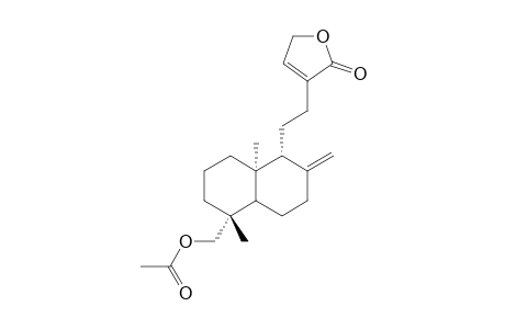 ANDROGRAPANIN-ACETATE;19-ACETOXY-8(17),13-ENT-LABDADIEN-15->16-LACTONE