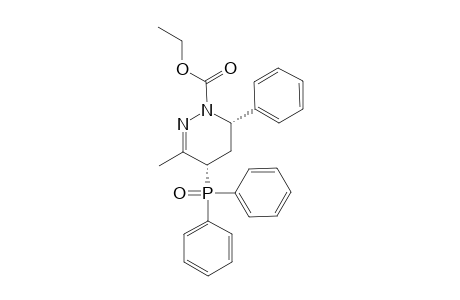 ETHYL-(+/-)-(4S*,6S*)-4-(DIPHENYLPHOSPHINOYL)-3-METHYL-6-PHENYL-5,6-DIHYDRO-4H-PYRIDAZINE-1-CARBOXYLATE