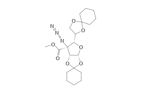 (3S)-3-AZIDO-1,2:5,6-DI-O-CYCLOHEXYLIDENE-3-DEOXY-3-C-METHOXYCARBONYL-ALPHA-D-XYLOHEXOSE