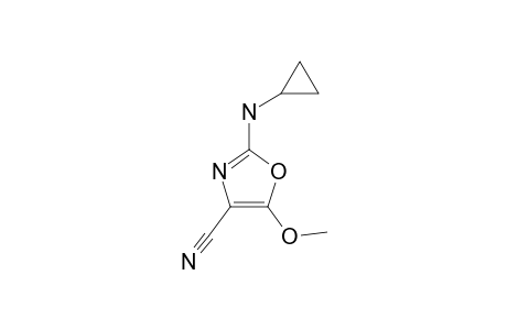 2-(CYCLOPROPYLAMINO)-5-METHOXY-OXAZOL-CARBONITRIL