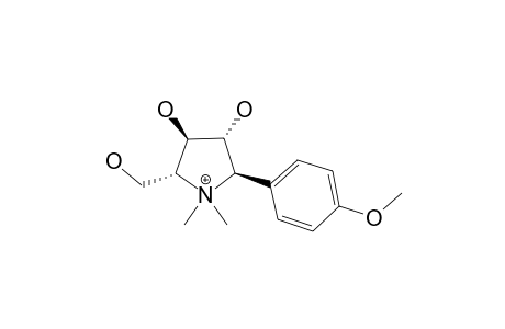 CODONOPYRROLIDIUM-B;5-HYDROXYMETHYL-2-(4-METHOXY-PHENYL)-1,1-DIMETHYL-PYRROLIDINE-3,4-DIOL