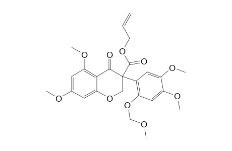 ALLYL-3-[4',5'-DIMETHOXY-2'-(METHOXYMETHOXY)-PHENYL]-5,7-DIMETHOXY-4-OXOCHROMANE-3-CARBOXYLATE