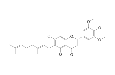 6-GERANYL-4',5,7-TRIHYDROXY-3',5'-DIMETHOXY-FLAVANONE