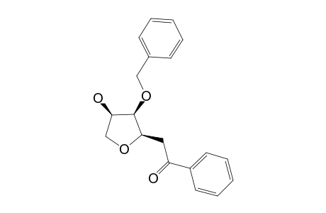 2-(2-O-BENZYL-1,4-ANHYDRO-BETA-D-ARABINOFURANOSYL-1-YL)-1-PHENYLETHANE-1-ONE;MAJOR-ANOMER