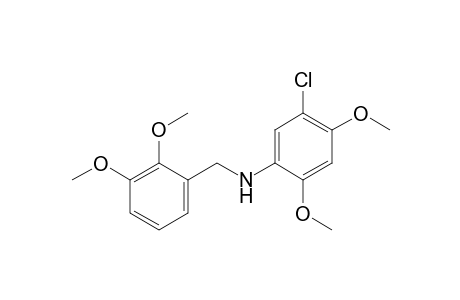 N-(5-chloro-2,4-dimethoxyphenyl)-2,3-dimethoxybenzylamine