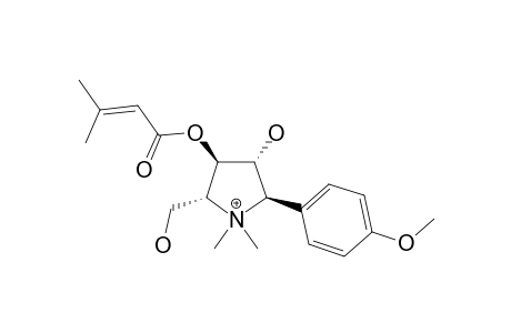 CODONOPYRROLIDIUM-A;3-METHYL-BUT-2-ENOIC-ACID-3-HYDROXY-5-HYDROXYMETHYL-2-(4-METHOXY-PHENYL)-1,1-DIMETHYL-PYRROLIDINE-4-YLESTER