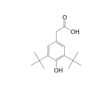 3,5-Di-tert-butyl-4-hydroxyphenylacetic acid - SpectraBase