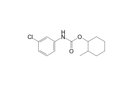m-chlorocarbanilic acid, 2-methylcyclohexyl ester