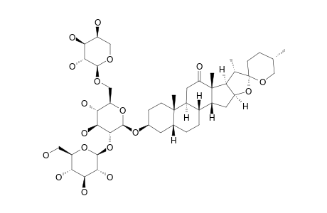 (25R)-3-BETA-HYDROXY-5-BETA-SPIROSTAN-12-ONE-3-O-[BETA-D-GLUCOPYRANOSYL-(1->2)-[ALPHA-L-ARABINOPYRANOSYL-(1->6)]-BETA-D-GLUCOPYRANOSIDE]