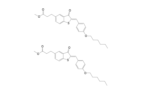 METHYL-2-(4-HEXYLOXYPHENYLMETHYLENE)-BENZO-[B]-THIOPHEN-3-(2H)-ONE-5-(2-ETHYLCARBOXYLATE)