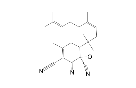 CIS-1-HYDROXY-2-IMINO-4-METHYL-6-(1,1,4,8-TETRAMETHYLNONA-3,7-DIENYL)-CYCLOHEX-3-ENE-1,3-DICARBONITRILE