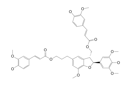 BOEHMENAN-D;2-(4-HYDROXY-3,5-DIMETHOXYPHENYL)-5-[3-(4-HYDROXY-3-METHOXYCINNAMOYLOXY)-PROPYL]-3-(4-HYDROXY-3-METHOXYCINNAMOYLOXYMETHY)-7-METHOXYBENZ