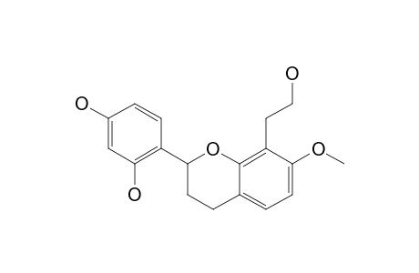 (+/-)-7-METHOXY-8-HYDROXYETHYL-2',4'-TRIHYDROXYFLAVANE