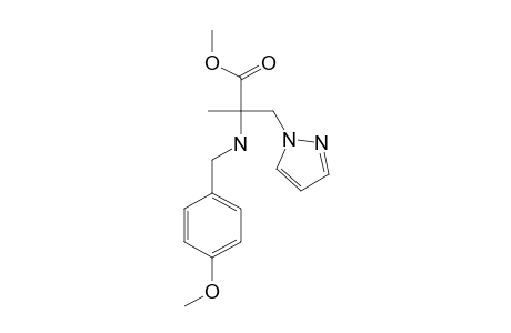 (+/-)-2-(4-METHOXYBENZYLAMINO)-2-METHYL-3-PYRAZOL-1-YLPROPIONIC-ACID-METHYLESTER