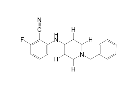 N-(1-benzyl-4-piperidyl)-6-fluoroanthranilonitrile