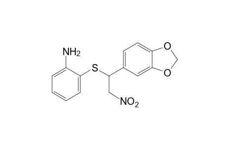 o-{[3,4-(methylenedioxy)-alpha-(nitromethyl)benzyl]thio}aniline