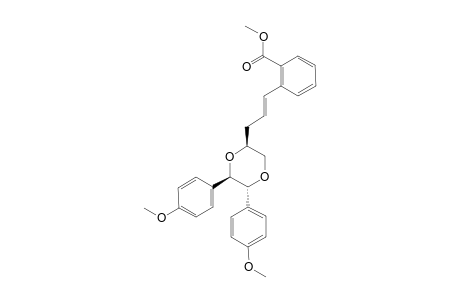 METHYL-2-[(1E)-3-[(2S,5R,6R)-5,6-BIS-(4-METHOXYPHENYL)-1,4-DIOXAN-2-YL]-PROP-1-ENYL]-BENZOATE