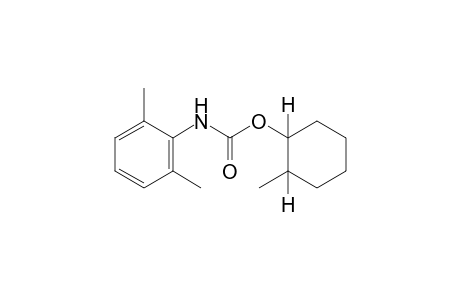 2,6-dimethylcarbanilic acid, 2-methylcyclohexyl ester