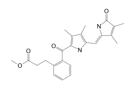9-[2-(2-(METHOXYCARBONYL)-ETHYL)-BENZOYL]-2,3,7,8-TETRAMETHYLDIPYRRINONE