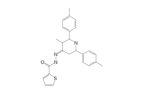 3-METHYL-2,6-BIS-(PARA-METHYLPHENYL)-PIPERIDIN-4-ONE-2-THIENOYL-HYDRAZONE