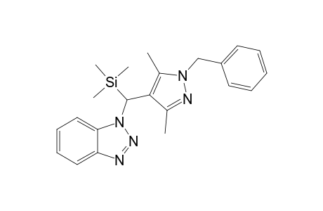 1-BENZYL-4-[(BENZOTRIAZOL-1-YL)-TRIMETHYLSILYL]-METHYL-3,5-DIMETHYL-PYRAZOLE