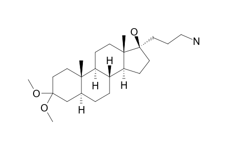 17-ALPHA-AMINOPROPYL-3,3-(DIMETHOXY)-5-ALPHA-ANDROSTAN-17-BETA-OL