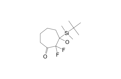 2,2-DIFLUORO-3-HYDROXY-3-(TERT.-BUTYLDIMETHYLSILYL)-CYCLOHEPTANONE