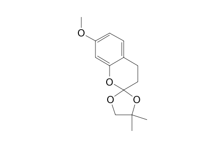 7-METHOXY-4',4'-DIMETHYL-3,4-DIHYDROSPIRO-[2H-1-BENZOPYRAN-2,2'-[1,3]-DIOXOLAN]