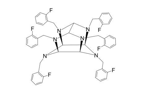 2,4,6,8,10,12-HEXA-(2'-FLUORO-PHENYLMETHYL)-2,4,6,8,10,12-HEXAAZA-TETRACYCLO-[5.5.0(5,9).0(3,11)]-DODECANE