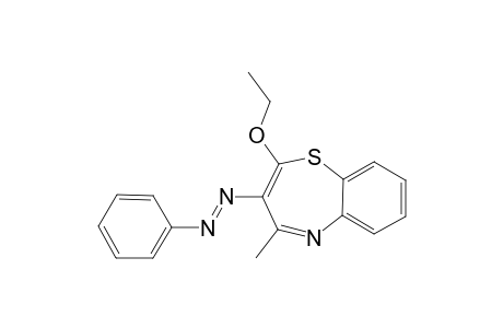 2-HYDROXY-4-METHYL-3-PHENYLAZO-1,5-BENZOTHIAZEPINE
