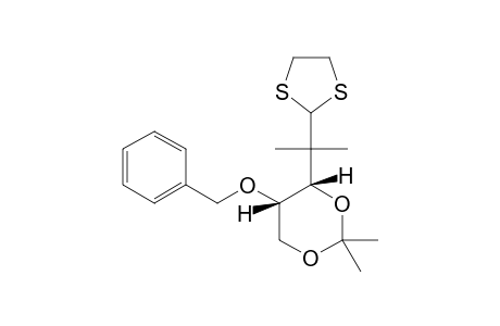 (3RS,4RS)-4-BENZYLOXY-1,1-ETHYLENEDITHIO-3,5-ISOPROPYLIDENEDIOXY-2,2-DIMETHYLPENTANE